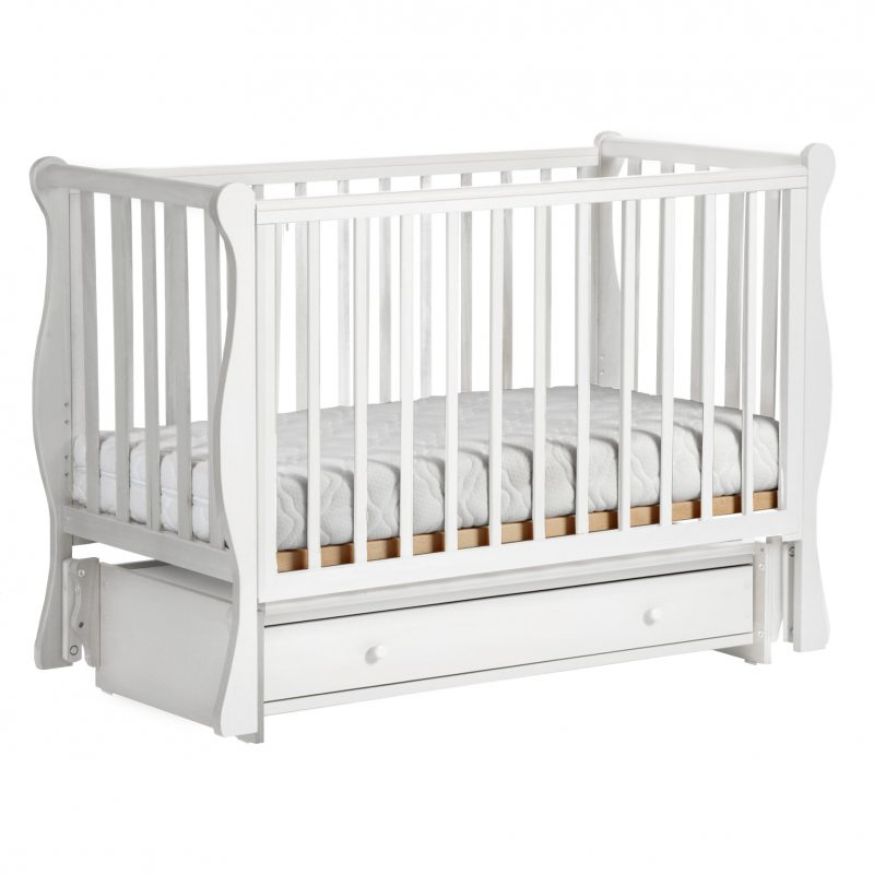 Кроватка Кубаночка 4 белый